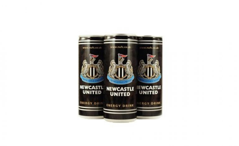 Newcastle United energy drink in UK