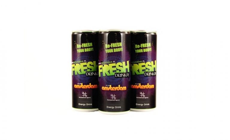 Re-Fresh custom label energy drink in Poland