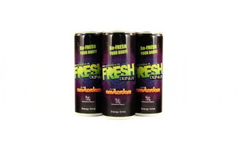 Re-Fresh custom label energy drink in Poland